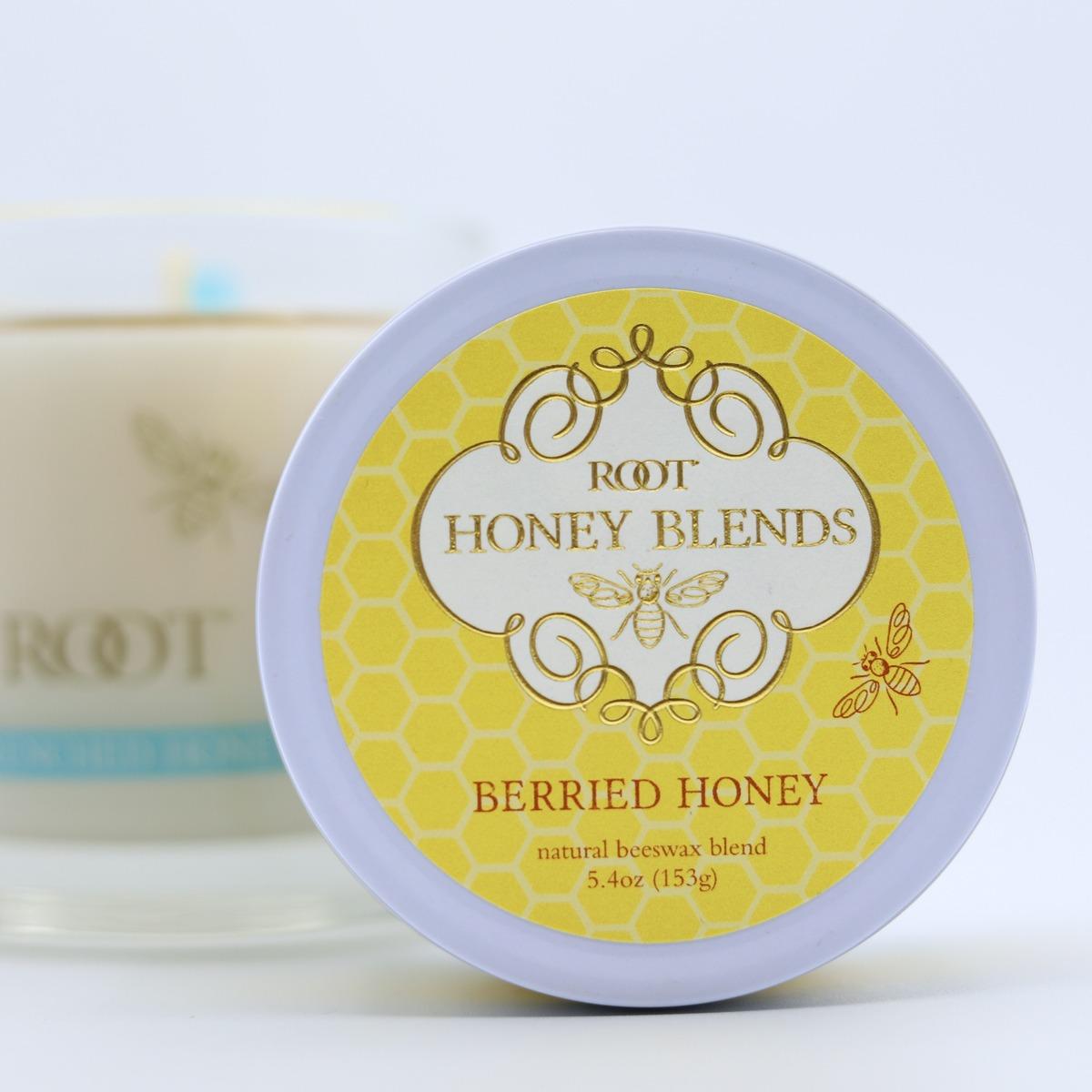 Foil Stamped Labels for Root Honey Blends